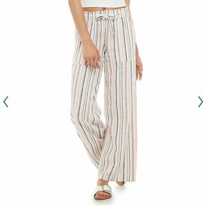 SO wide leg linen pants